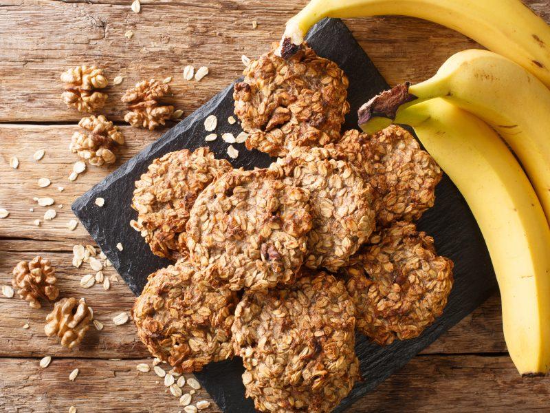 Biscuiți cu ovăz și banane